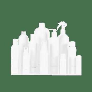 Basic Round Flacon HDPE Blanc