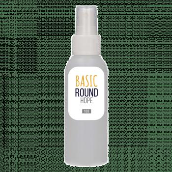 100 ml flacon Basic Round HDPE naturel + Pompe de spray PP blanc