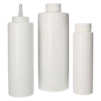 Sauce flacon HDPE Blanc