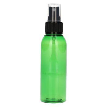 100 ml Basic Round PET vert + Pompe de spray noir