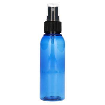 100 ml Basic Round PET bleu + Pompe de spray noir