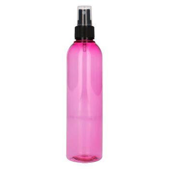 250 ml Basic Round PET rose + Pompe de spray noir
