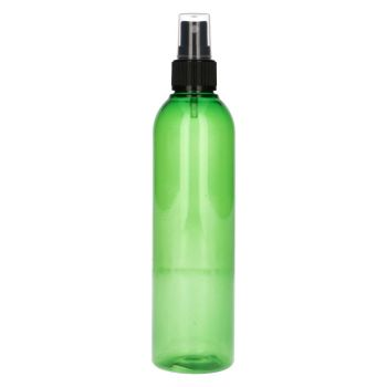 250 ml Basic Round PET vert + Pompe de spray noir