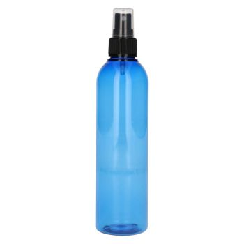 250 ml Basic Round PET bleu + Pompe de spray noir