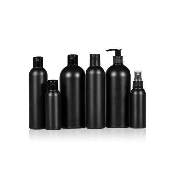 Basic Round flacons HDPE Noir