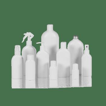 Basic Oval flacon HDPE Blanc