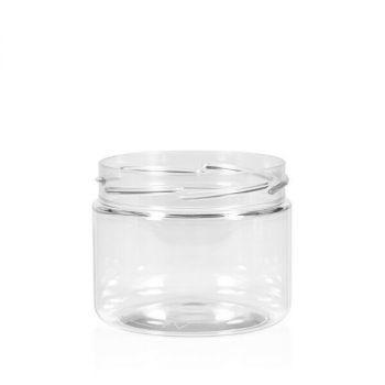 250 ml pot Clear cylinder PET transparent