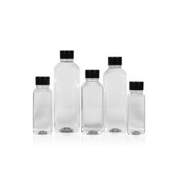 Recyclé Juice Square flacon PET transparent