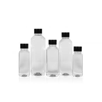 Juice Square flacon PET transparent