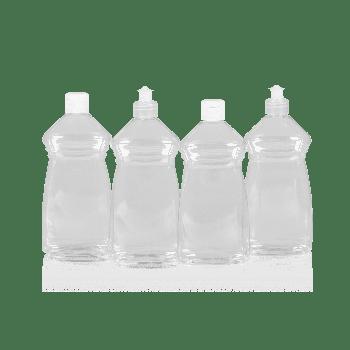 Wash flacon PET transparent