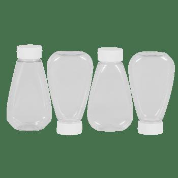 Sauce Oval bottles PET Transparent